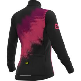 Alé Cycling Solid Pulse Longsleeve Jersey Damen black-prune-fluo pink